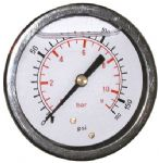 WIKA 7 BAR (100 PSI) 63mm Pressure Gauge Back Entry Glycerine Filled